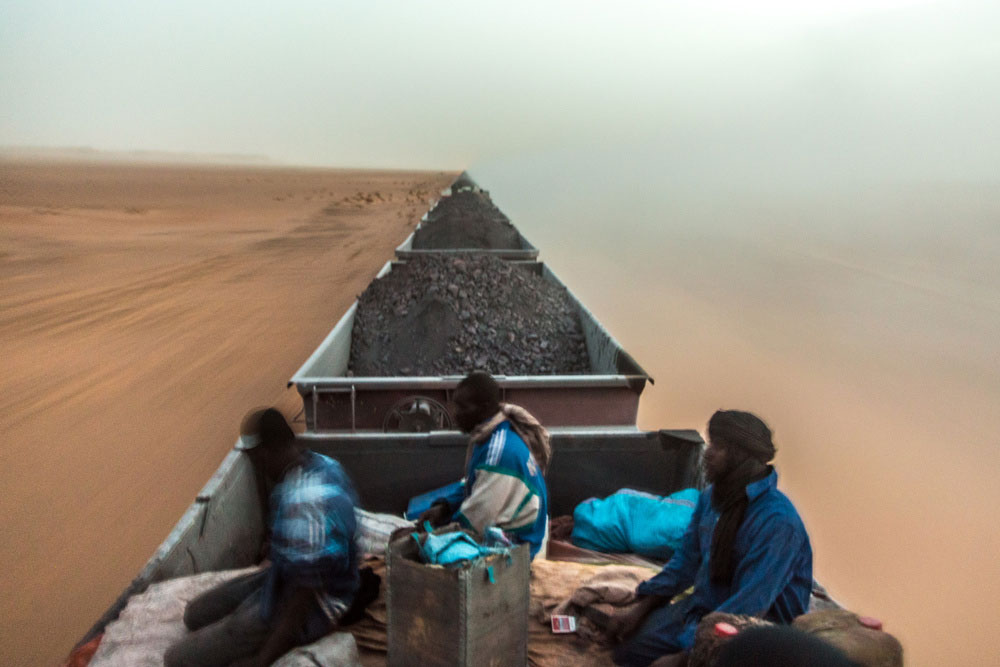Iron Ore Train In Mauritania